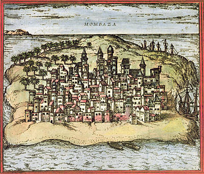 Mombasa Photograph - Kenya: Mombasa, 1572 by Granger
