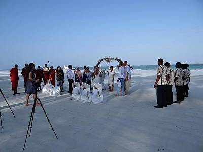 Explorason Photograph - Kenya Wedding On Beach 2 With Maasai by Exploramum Exploramum