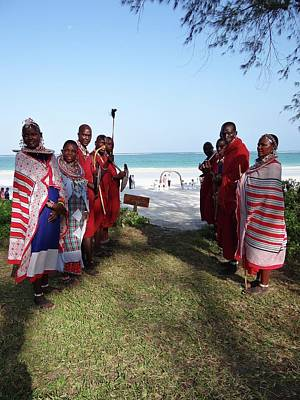 Exploramum Photograph - Kenya Wedding On Beach Maasai Bridal Welcome by Exploramum Exploramum