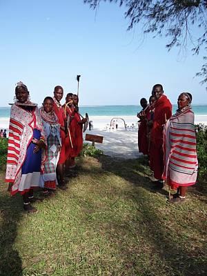Kenya Wedding On Beach Maasai Bridal Welcome Art Print