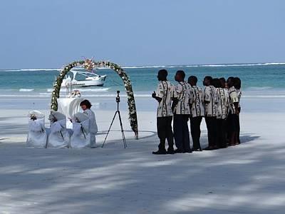 Kenya Wedding On Beach Singers Art Print