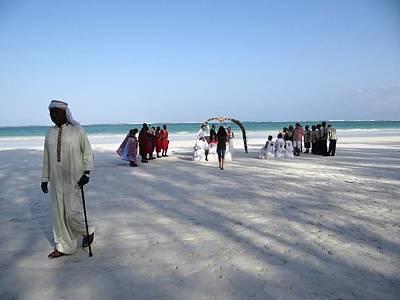 Exploramum Wall Art - Photograph - Kenya Wedding On Beach Wide Scene2 by Exploramum Exploramum