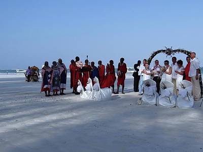 Exploramum Photograph - Kenya Wedding On Beach With Maasai by Exploramum Exploramum