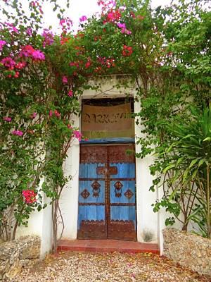 Exploramum Photograph - Kenyan Doorway With Bougainvillea by Exploramum Exploramum