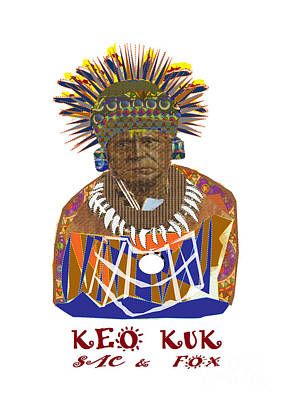 Painting - keo Kuk Sac and Fox tribe of America Artistic presentation by NavinJoshi at FineArtAmerica.com image by Navin Joshi