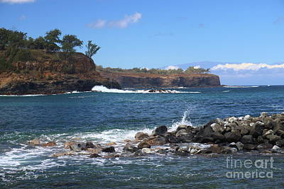 Photograph - Keokea Beach Rocks by Mary Haber