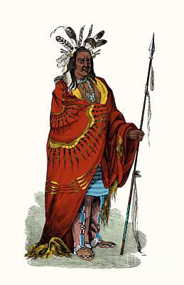 Chief Keokuk Photograph - Keokuk, Sauk Indian Chief by Science Source