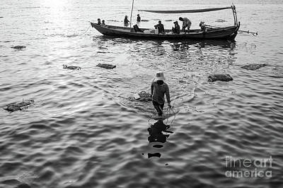 Photograph - Kep Crab Fishers by Dean Harte
