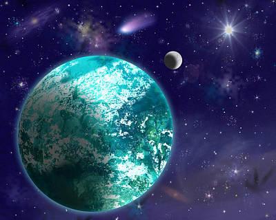 Kepler-22b New Earth Art Print
