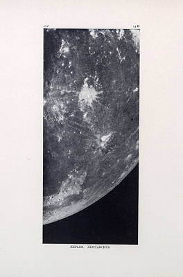 Drawing - Kepler, Aristarchus - Surface Of The Moon - Lunar Surface - Old Atlas - Celestial Chart by Studio Grafiikka