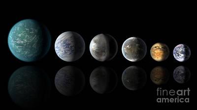 Kepler Exoplanets Similar To Earth Art Print