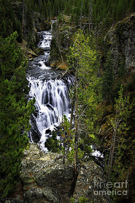 Photograph - Kepler Falls, Yellowstone by Craig J Satterlee