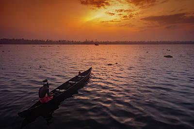 Photograph - Kerala Fisherman by Mark Perelmuter