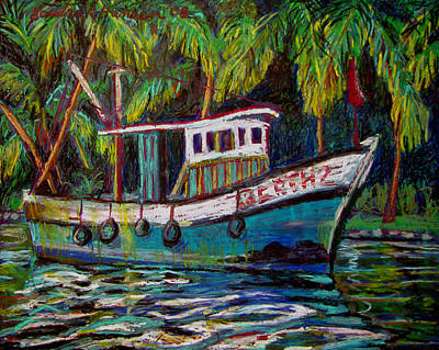 Painting - Kerala Fishing Boat  by Art Nomad Sandra  Hansen