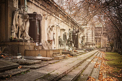 Autumn Art Photograph - Kerepesi Cemetery Budapest by Joan Carroll