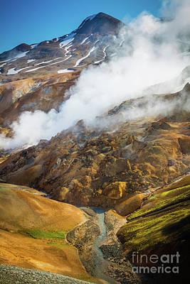 Photograph - Kerlingarfjoll Steam by Inge Johnsson