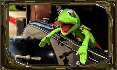 Kermit In Model T Art Print