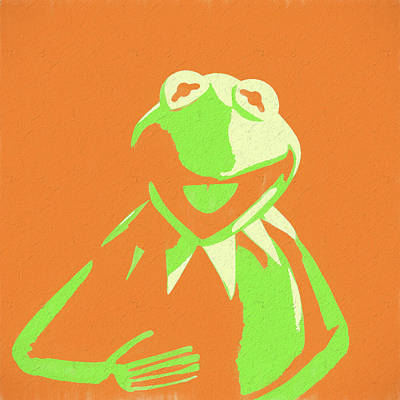 Amphibians Mixed Media - Kermit The Frog by Dan Sproul