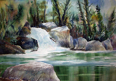 Painting - Kern River Light by John Mabry