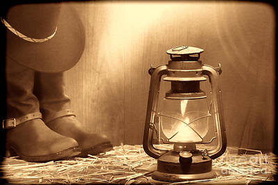Photograph - Kerosene Lamp by American West Legend By Olivier Le Queinec