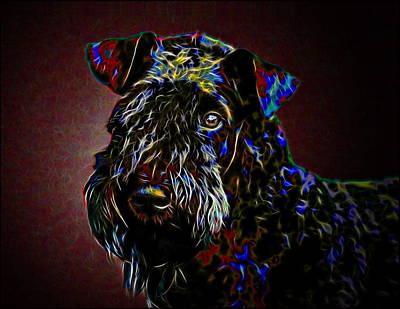 Kerry Blue Terrier Art Print by Alexey Bazhan