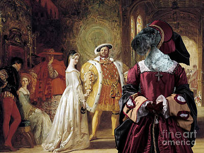 Painting - Kerry Blue Terrier Art - Henry Viiis First Interview With Anne Boleyn by Sandra Sij