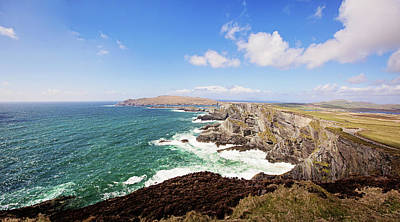 Portmagee Wall Art - Photograph - Kerry Cliffs Panoramic by Scott Pellegrin
