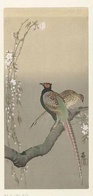 kersenbloesem Ohara Koson Art Print by Eastern Accent
