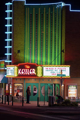 Photograph - The Kessler Theater Dallas32217 by Rospotte Photography