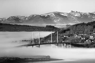 Photograph - Kessock Bridge Bw by Veli Bariskan