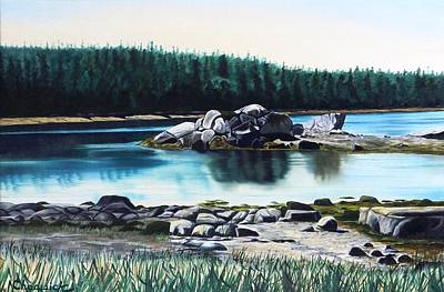 Painting - Ketch Harbour by Phil Chadwick