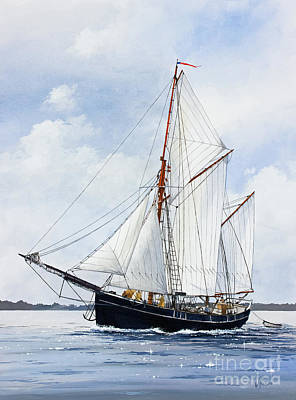 Painting - Ketch Rig Solvig by James Williamson