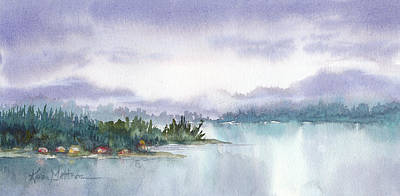 Painting - Ketchikan Alaska Inside Passage Shores by Karen Mattson