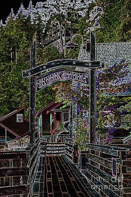 Photograph - Ketchikan Creek St Graphic by Louise Magno
