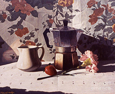 Painting - Kettle And Pink Carnation by Daniel Montoya