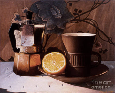 Painting - Kettle Cup And Saucer by Daniel Montoya
