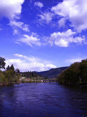 Photograph - Kettle River High Water Grand Forks Bc by Barbara St Jean