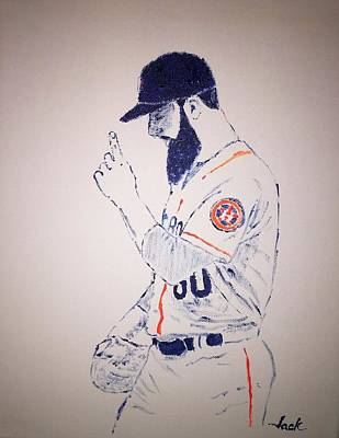 Houston Astros Painting - Keuchel Grateful by Jack Bunds