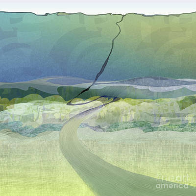 Finger Lakes Drawing - Keuka Incline  by CR Leyland