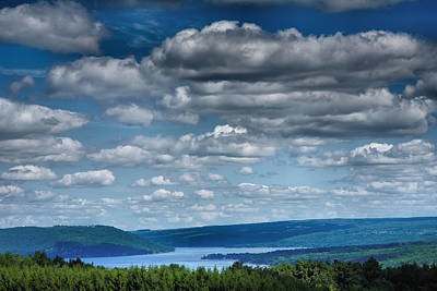 Note Card Photograph - Keuka Landscape Iv by Steven Ainsworth
