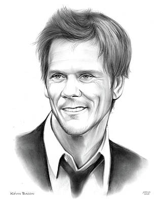 Musicians Drawings - Kevin Bacon by Greg Joens