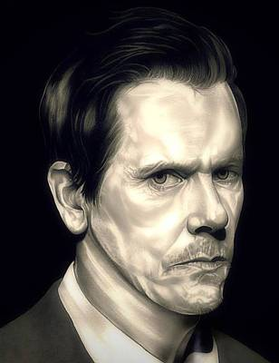 Kevin Bacon - The Following Art Print