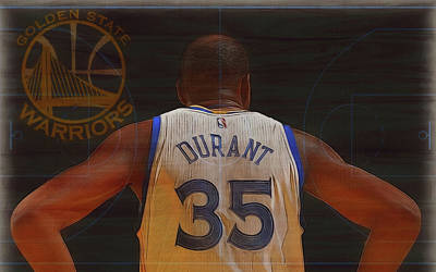 Mixed Media - Kevin Durant Golden State by Dan Sproul