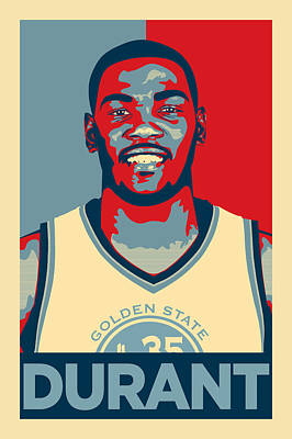Athletes Digital Art - Kevin Durant by Zapista
