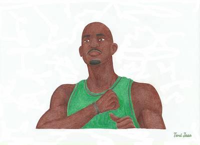 Kevin Garnett Drawing - Kevin Garnett by Toni Jaso