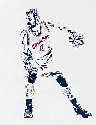 Free Mixed Media - Kevin Love Cleveland Cavaliers Pixel Art by Joe Hamilton