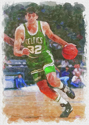 Athletes Royalty-Free and Rights-Managed Images - Kevin McHale Paint by Ricky Barnard