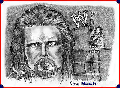 Drawing - Kevin Nash Outsider by Chris  DelVecchio