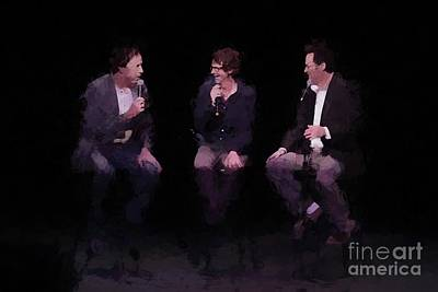 Kevin Nealon  Dana Carvey And Dennis Miller Oil Painting Enlargements Art Print