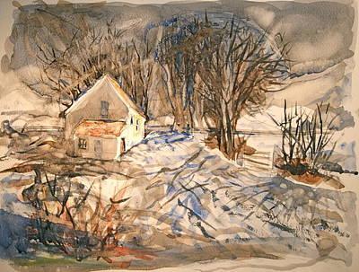 Kev's Barn Art Print by Mike Shepley DA Edin